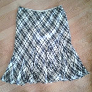 Ralph Lauren silk skirt, Lined, argyle SM comfy!